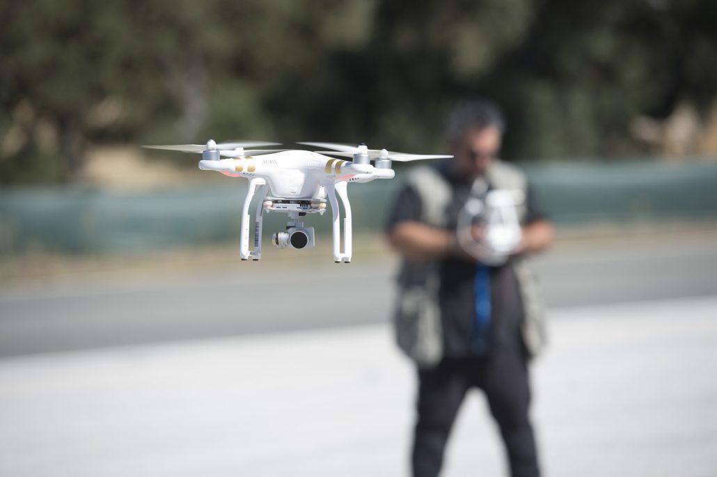 sUAS pilot flying drone.